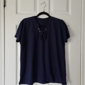 La Vie en Rose - Navy T-Shirt